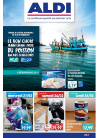 Prospectus Aldi La-Seyne-sur-Mer 53 Avenue Esprit Armando : Le bon choix maintenant pour du poisson encore longtemps