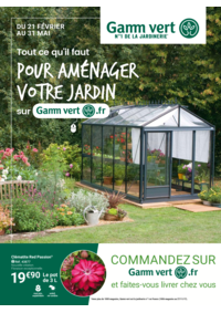 Prospectus Gamm vert NOZAY : Pour aménager votre jardin
