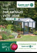 Prospectus Gamm vert : Pour aménager votre jardin