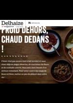 Journaux et magazines Supermarché Delhaize : Froid dehors, chaud dedans!