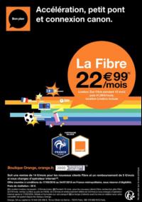 Prospectus Boutique Orange PARIS 4 : La fibre à 22.99€ par mois