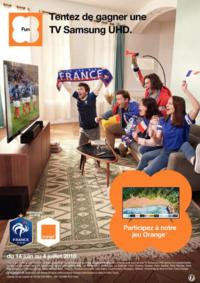 Jeux concours Boutique Orange L ISLE ADAM : Tentez de gagner une TV Samsung UHD