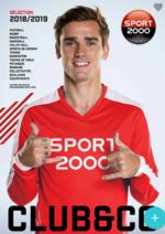 Prospectus Sport 2000 : Sélection 2018 - 2019