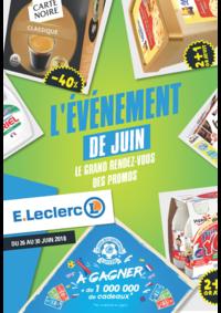 Prospectus E.Leclerc Paris 19 : L'événement de juin:  le grand rendez-vous des promos