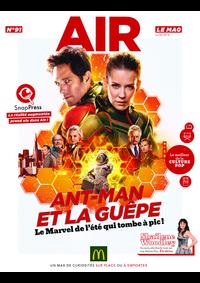 Journaux et magazines McDonald's - RENNES 5 : Air le Mag du mois de juillet 2018