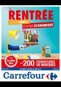 Prospectus Carrefour : Rentrée des Classes