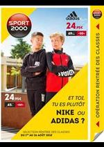 Prospectus Sport 2000 : Nike ou Adidas?