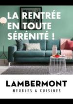 Bons Plans Meubles Lambermont  : La rentrée en toute sérénité !