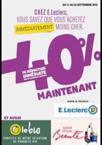 Prospectus E.Leclerc : Chez E.Leclerc , vous savez que vous achetez immédiatement moins cher