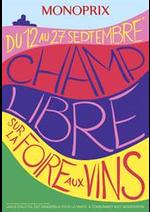 Prospectus Monoprix : Champ Libre sur la Foire aux Vins