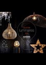 Prospectus Maisons du Monde : Collection Luminaires 2018