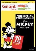 Promos et remises  : Les 90 ans de Mickey