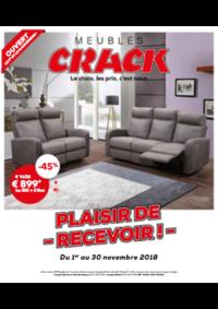 Prospectus Meubles Crack : Plaisir de recevoir
