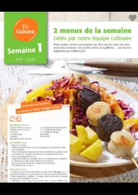 Menus Colruyt HALLE :  2 menus pour la semaine