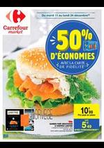 Prospectus Carrefour Market : 50 % d'économies