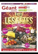 Prospectus Géant Casino : Joyeuses économies à tous !