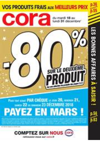 Prospectus Cora PACÉ : -80% sur le deuxième produit