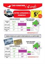 Prospectus  : Nouveaux tarifs de livraison à domicile !