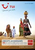 Promos et remises  : Brochure Circuits Accompagnés Collection 2019