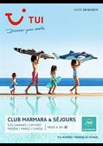Prospectus TUI : Brochure TUI Club Marmara & Séjours Hiver 2018/2019
