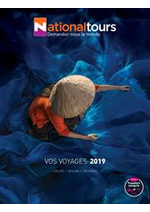 Prospectus  : Vos voyages 2019