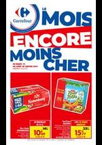 Prospectus Carrefour : Le Mois encore moins cher - Les formats éco