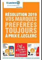 Prospectus E.Leclerc : Résolution 2019 vos marques préférées toujours à prix E.Leclerc