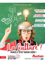 Prospectus Auchan : La culture ? Mais c'est bien sûr