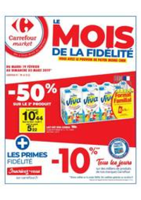 Prospectus Carrefour Market Rennes Bourg l'Evêque rue de Brest : Le mois de la fidélité 2