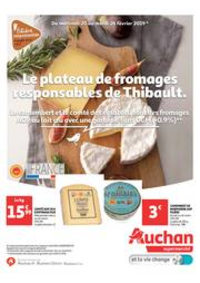 Prospectus Auchan Melun Senart Cesson : Le plateau de fromage responsable de Thibault