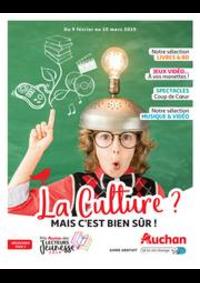 Prospectus Auchan Melun Senart Cesson : La culture ? Mais c'est bien sûr