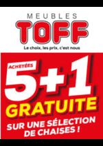 Prospectus Meubles Toff : 5 + 1 gratuite !