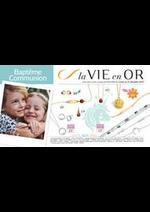 Prospectus Auchan : La Vie en Or - Baptême et communion