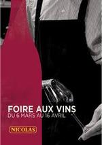 Prospectus Nicolas : Foire aux vins