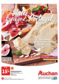 Prospectus Auchan Val d'Europe Marne-la-Vallée : Italie, Espagne, Portugal. Un voyage culinaire, sans bouger de chez vous.