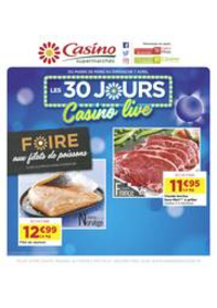 Prospectus Supermarchés Casino CARRIERES SUR SEINE : Les 30 jours Casino live