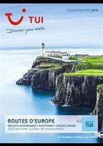 Prospectus TUI : Routes d' Europe
