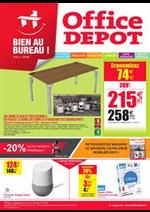 Prospectus Office DEPOT : Promos mobilier , fournitures ! Soyez bien au bureau !