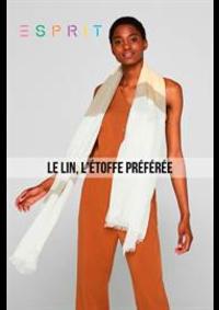 Prospectus Esprit Paris Rue de Mogador / Boulevard Haussmann 10-12 : Le Lin, L'étoffe Préférée