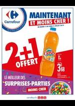Prospectus Carrefour : Maintenant et moins cher ! Le meilleur des surprises-parties