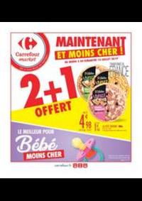 Prospectus Carrefour Market COLOMBES : 2 + 1 OFFERT