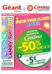Prospectus Supermarchés Casino MORTEAU : Cahier salon de la marque Casino