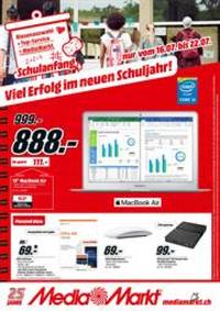 Prospectus Media Markt Basel Stücki  : Viel Erfolg im neuen Schuljahr!