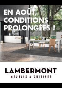 Prospectus Meubles Lambermont  : Conditions prolongées !