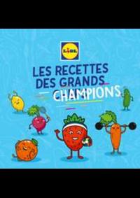 Prospectus Lidl CLICHY 122 avenue du Général Leclerc : Les recettes des grands champions