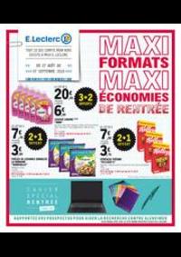 Prospectus E.Leclerc PANTIN : Maxi formats maxi économies de rentrée