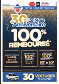 Prospectus Leader Price Fontenay-aux-Roses : 100% Remboursé