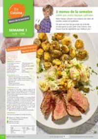 Menus Colruyt HANNUT : 2 menus de la semaine crees par notre equipe culinaire