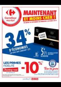 Prospectus Carrefour Market PARIS 102-104 AVENUE GENERAL LECLERC : Maintenant et moins cher !