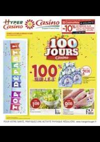 Prospectus Supermarchés Casino PARIS 28 - 34 rue de Ménilmontant : Les 100 jours Casino